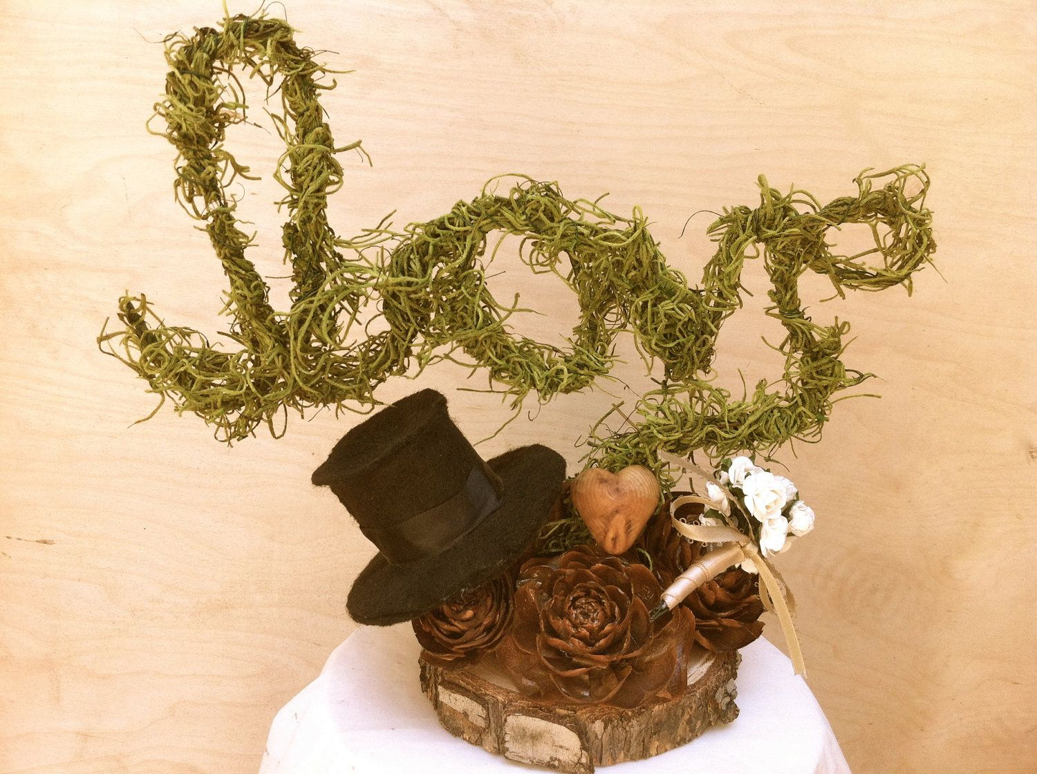 Rustic Wedding Cake Topper Forest Table ToppersRustic TablesReception