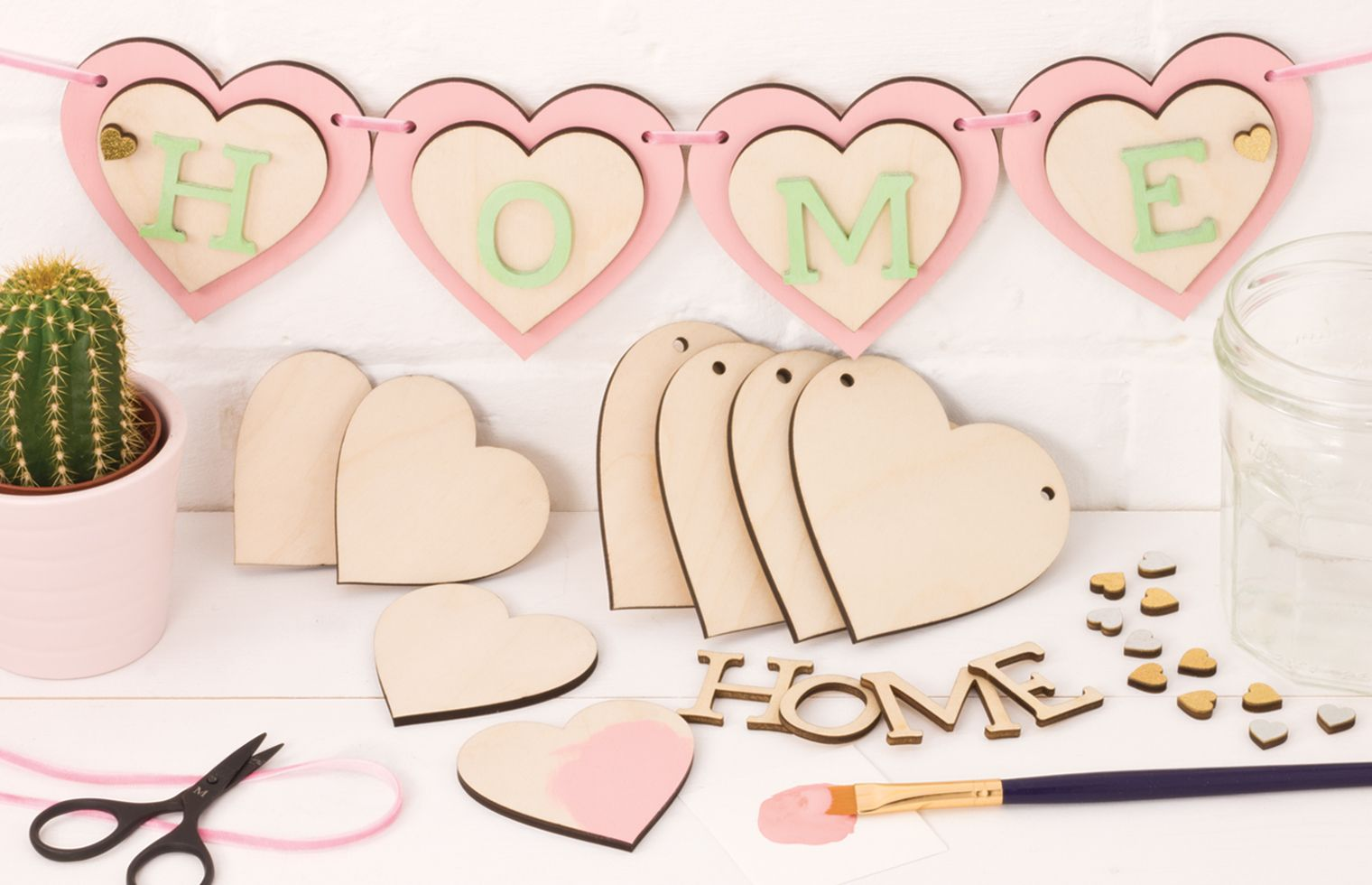 Inspiration Wooden Heart Home Bunting Wooden Hearts Crafts Wooden Shapes