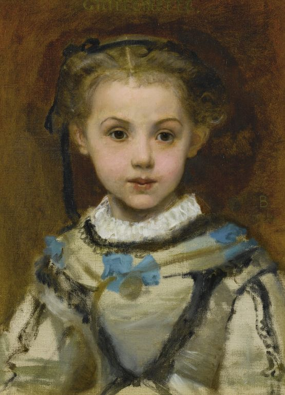 """Paul Baudry: """"Portrait of Guillemette de Lareinty"""", 1857, oil on canvas, Private collection."""