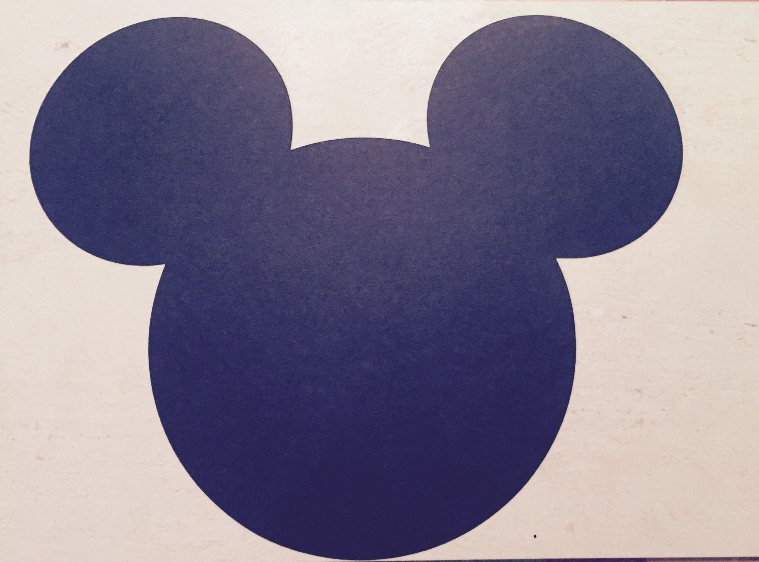 Mickey Mouse Head placemats (large) - Mickey Mouse placemat - Mickey ...