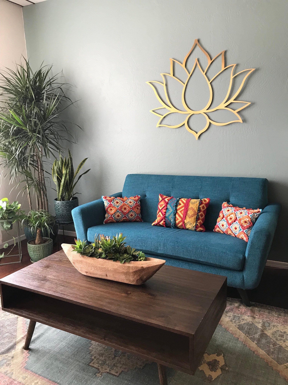 Gold Lotus Flower Metal Wall Art, Lotus Metal Art, Lotus ...