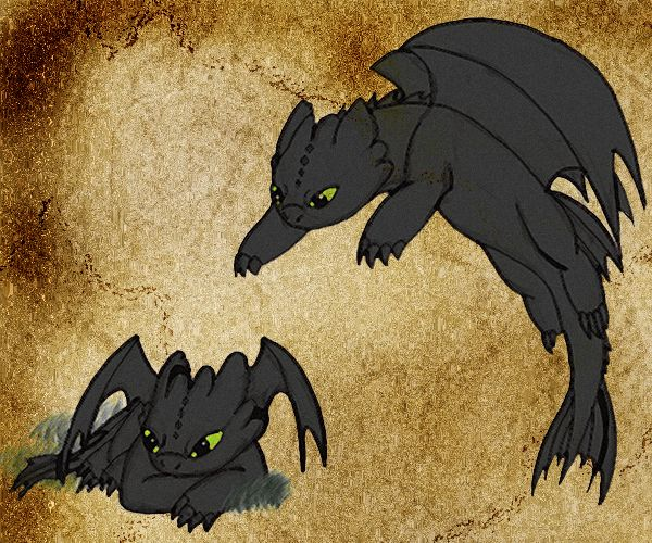 Baby Night Furies by Moose15 on