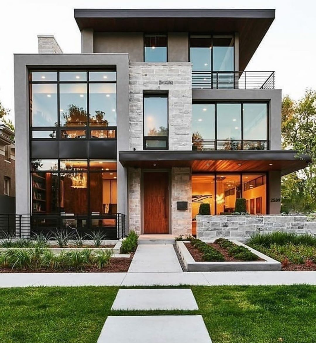 Daily Luxury Posts S Instagram Post Denver Modern Home Featuring National Stone Accen Modern Farmhouse Exterior Luxury House Designs Modern House Exterior