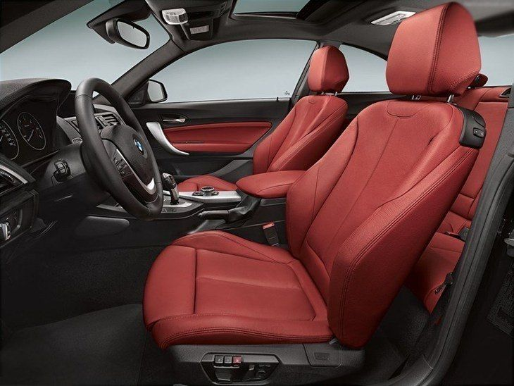 Bmw 2 Series Coupe Red Interior Side Interiores Vermelhos Bmw