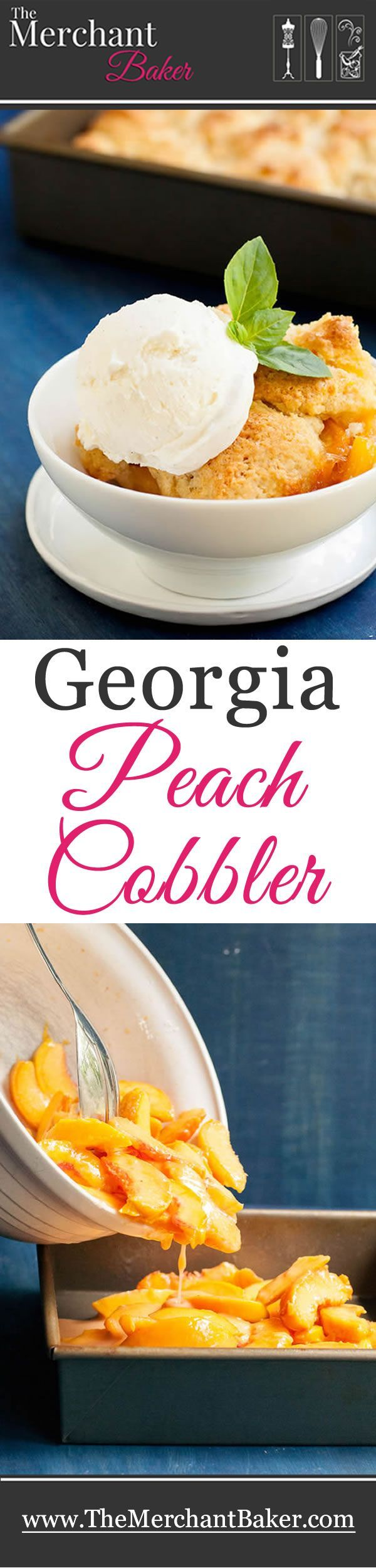 Georgia Peach Cobbler #peachcobblercheesecake