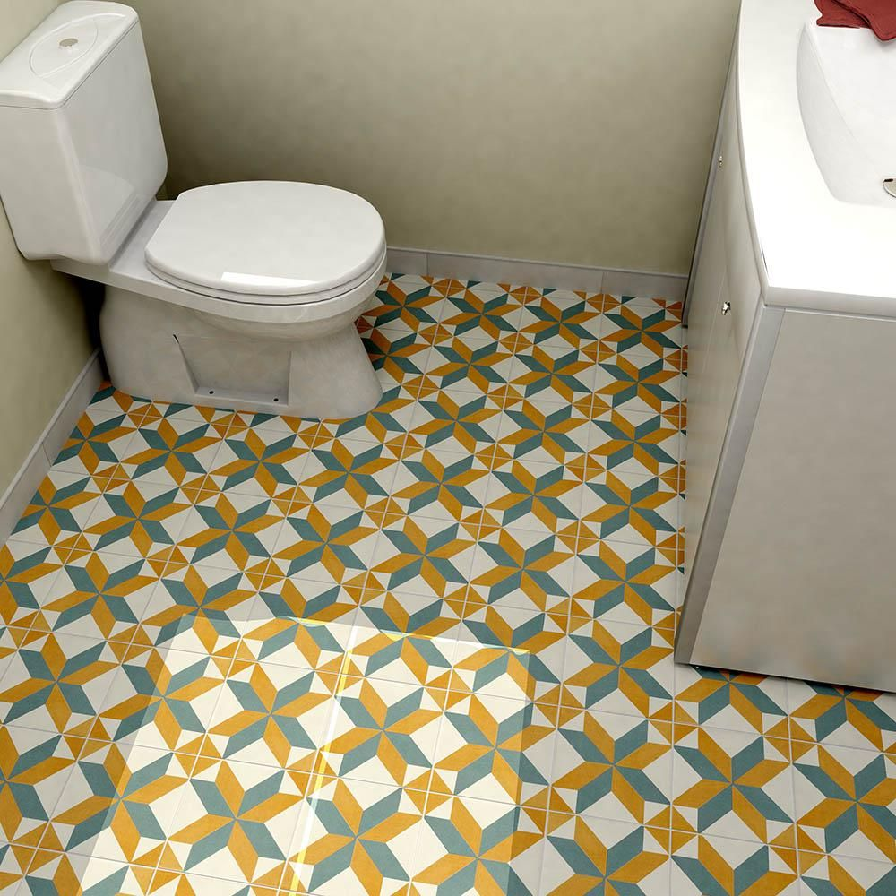 Merola tile revival pattern 7 34 in x 7 34 in ceramic floor and merola tile revival pattern 7 34 in x 7 3 dailygadgetfo Gallery