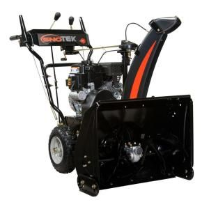Sno Tek 24 In 2 Stage Electric Start Gas Snow Blower 920402