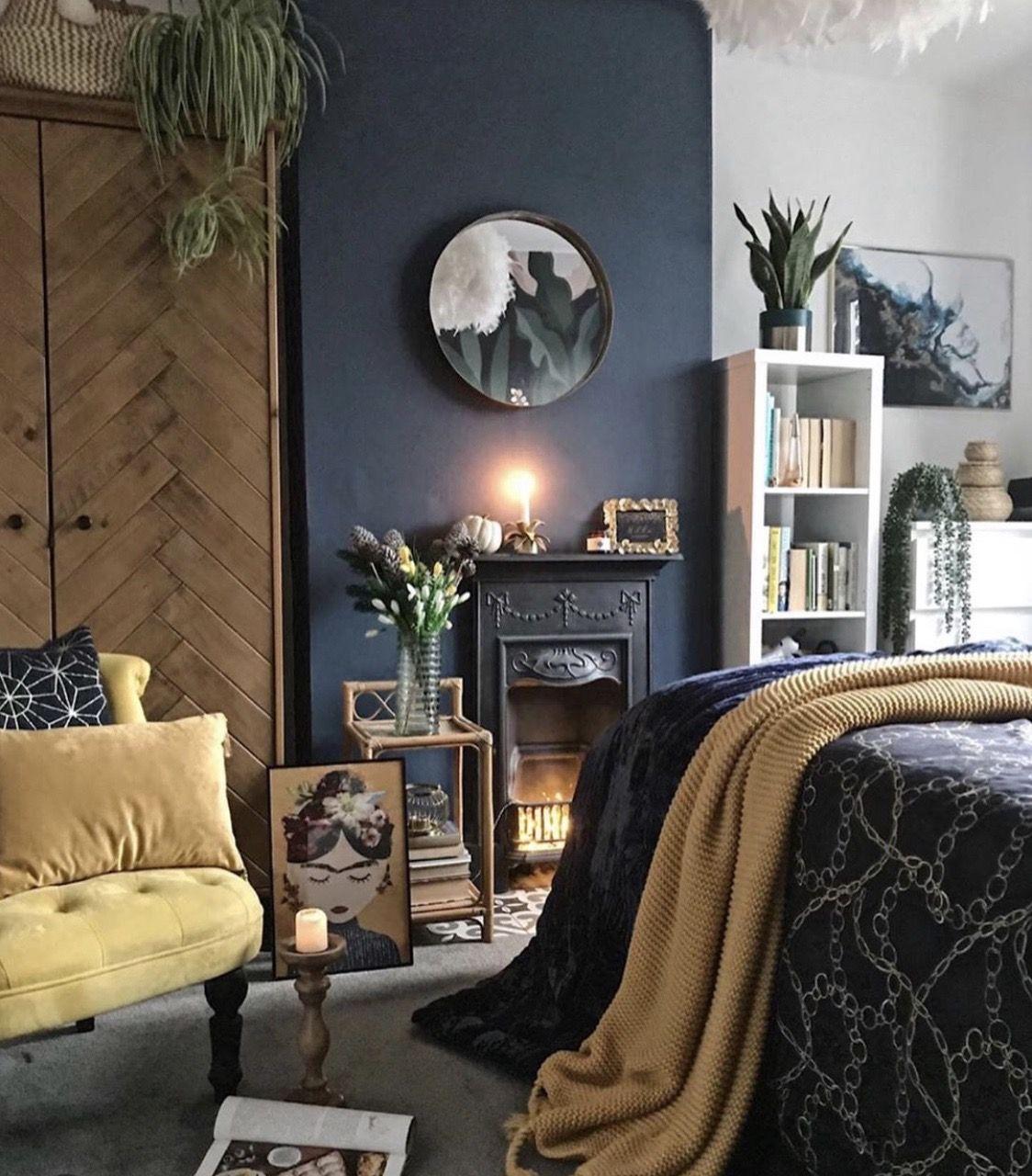 Pin by Minna Arola on Home (Int) in 2020 | Dark blue ...