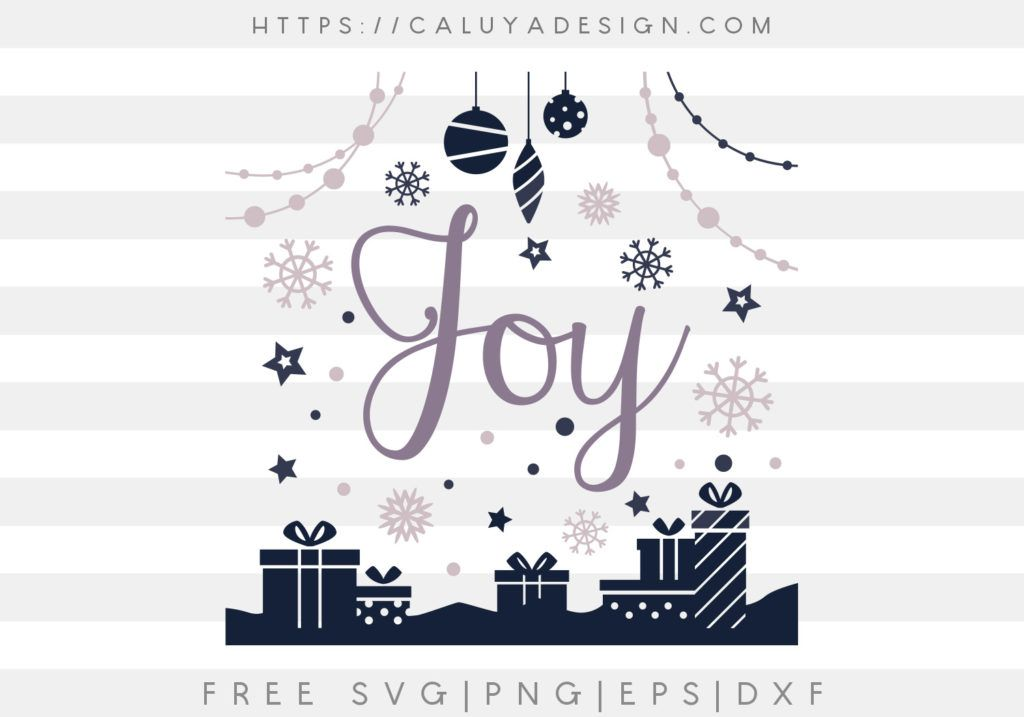Download Free Christmas Joy SVG, PNG, EPS & DXF by | Joy, Cricut ...