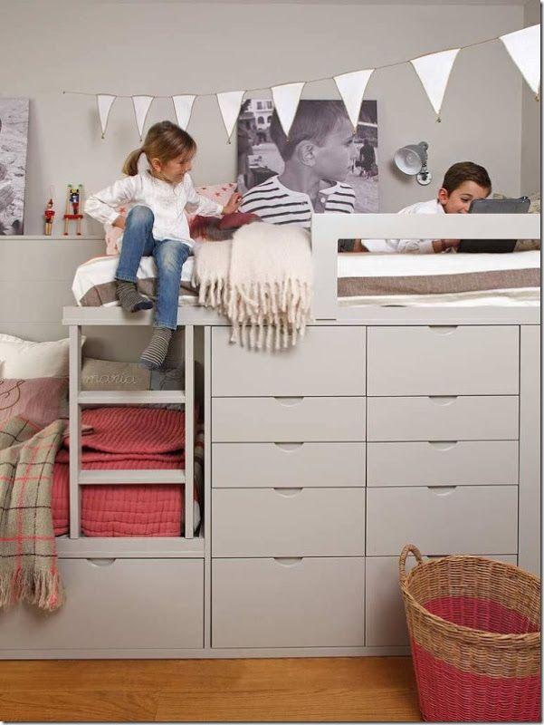 Letti Per Bambini E Ragazzi.Cameretta Per Bambini E Ragazzi Letto Soppalco 2 Shared Bedrooms