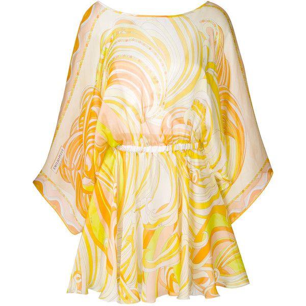 printed kaftan dress - Yellow & Orange Emilio Pucci C3xu9