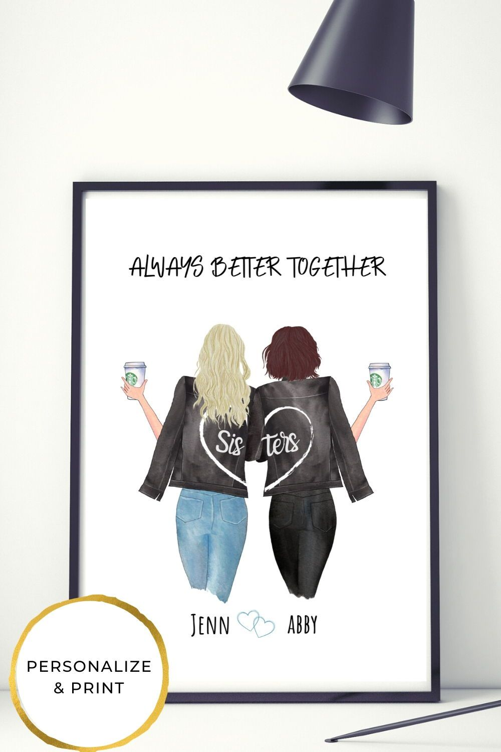 Personalized Gift For Sister In 2020 Diy Birthday Gifts For Sister Sister Gifts Diy Personalised Gifts For Sister