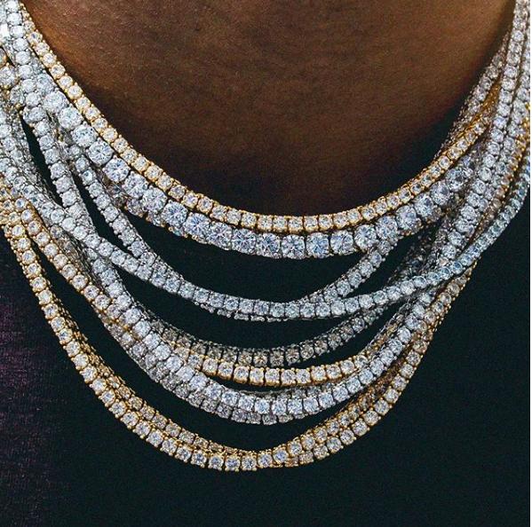 Diamond Tennis Chain Necklaces Unisex Jewelry Jewelry Diamond Tennis Necklace