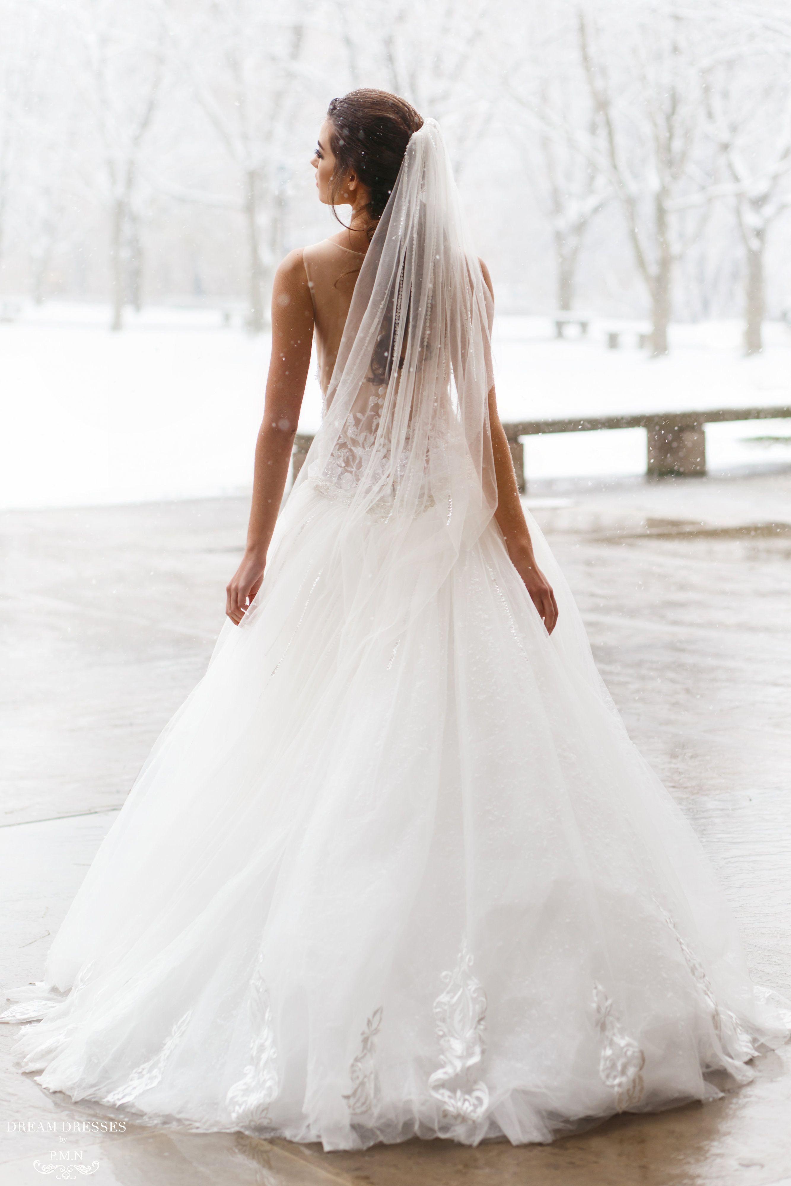 Detachable Tulle Skirt for Wedding Dress (Isla) Beaded