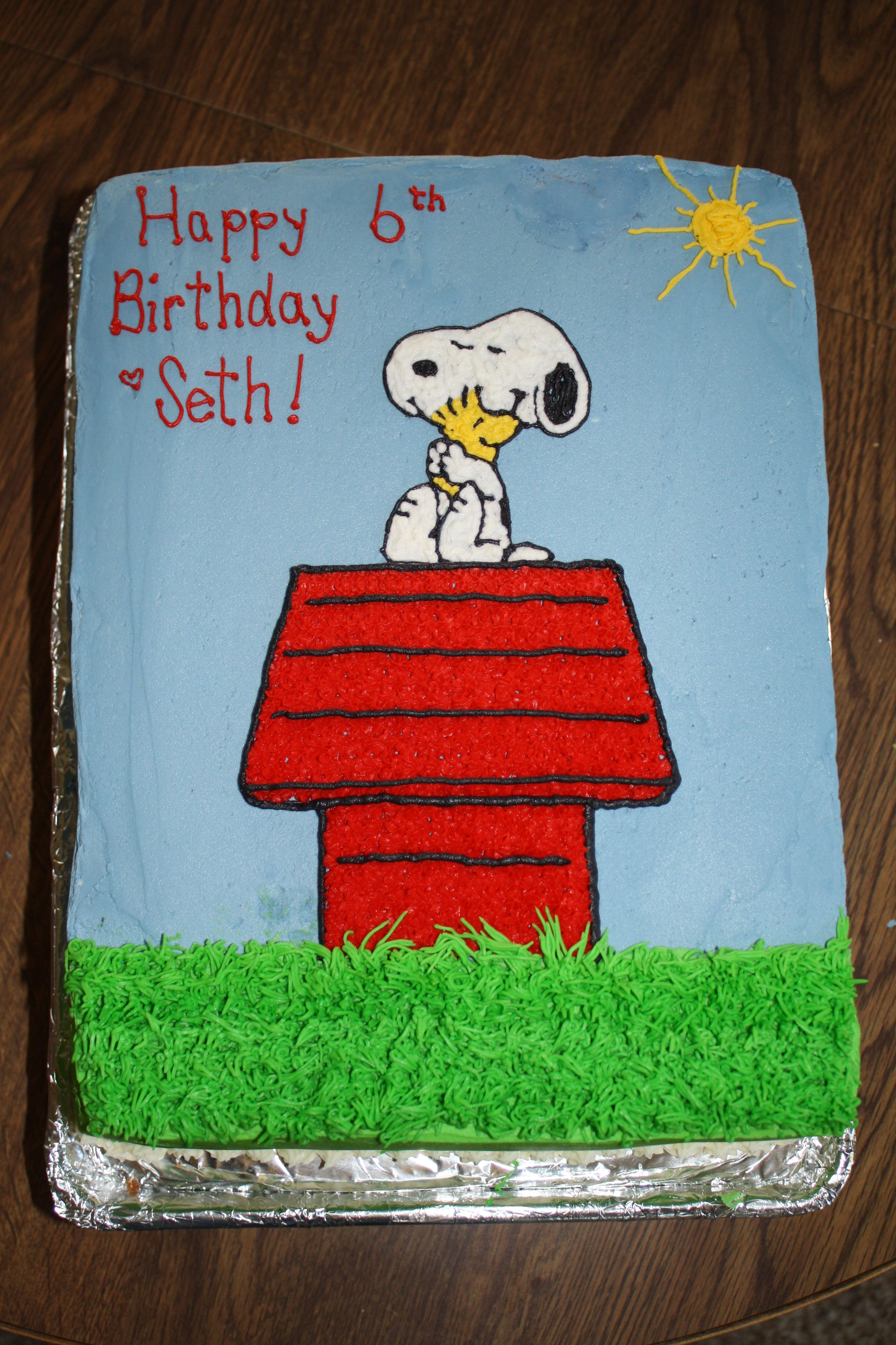 Snoopy Cake With Images Snoopy Birthday Peanuts Birthday