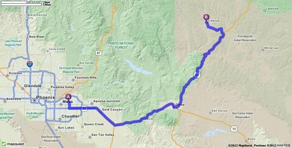 Driving Directions to Cibecue Arizona MapQuest
