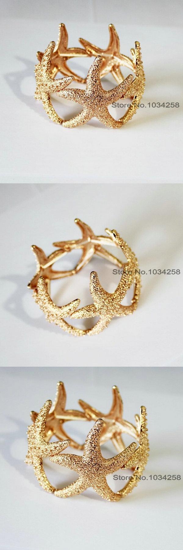 Visit to buy latest gorgeous gold elastic beach wedding sea