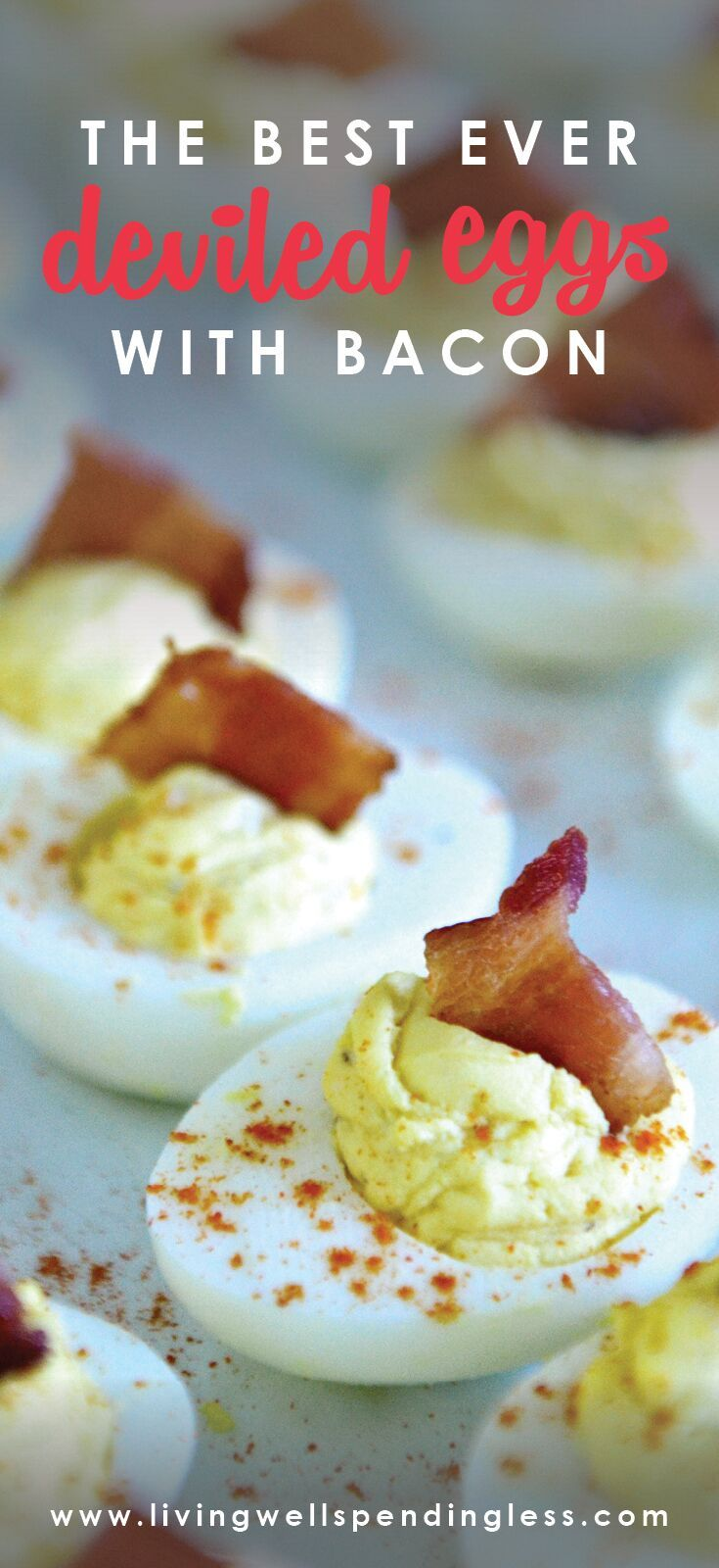 Deviled eggs with bacon pinterest easy deviled eggs devil and bacon these deviled eggs with bacon are a great party food or appetizer for the holidays or game day via lwsl recipe foodmadesimple appetizers forumfinder Choice Image