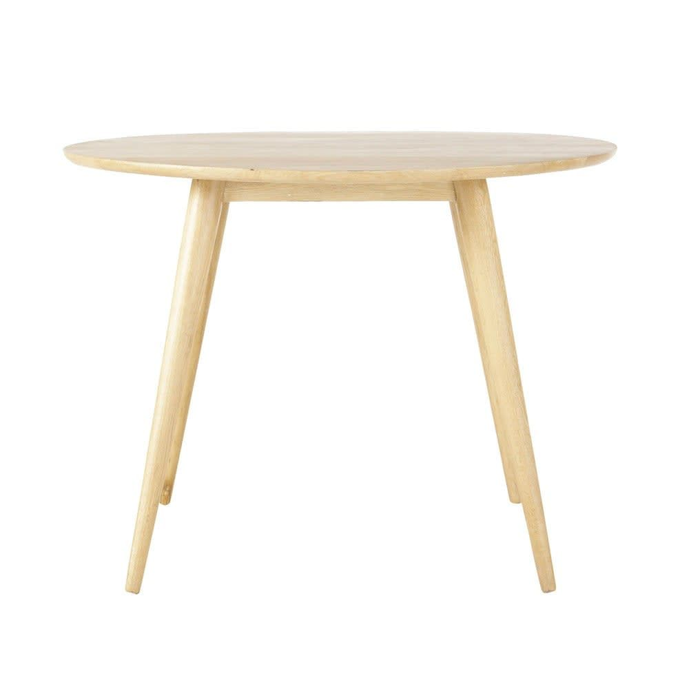 Solid Oak Vintage Round Dining Table D100 Norway Round Dining Table Oak Dining Table Round Dining [ 1000 x 1000 Pixel ]