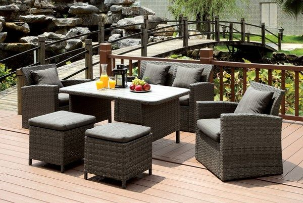 furniture of america nashira 6pc patio sofa set outdoor furniture rh pinterest com