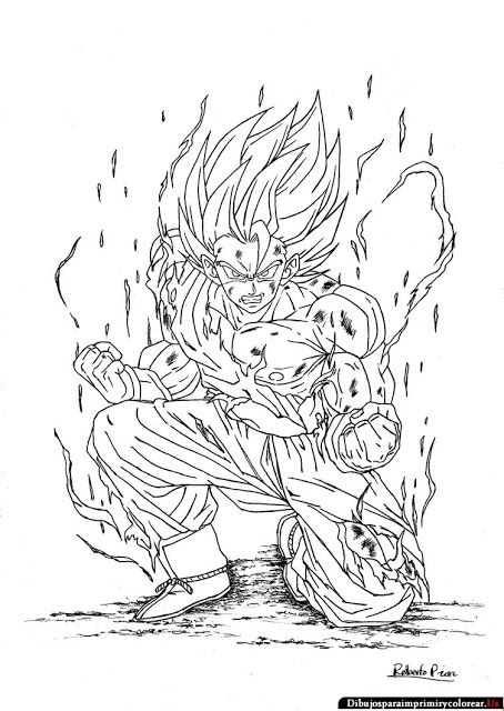 Dibujos de Dragon Ball z para Imprimir y Colorear … | goku by Julio ...