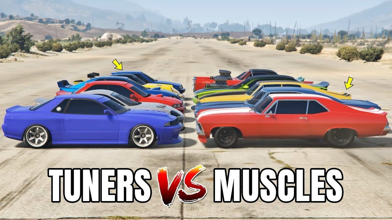 Gta 5 Online Tuners Vs Muscles Which Is Fastest In 2020 Gta