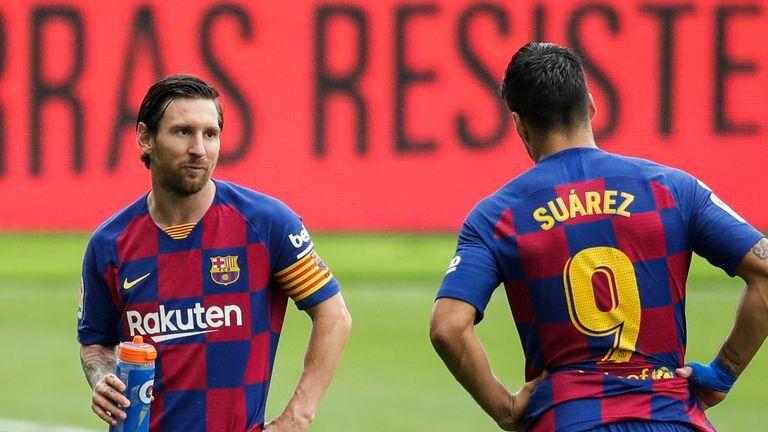 Suarez visits Messi's home Video Watch TV Show Sky