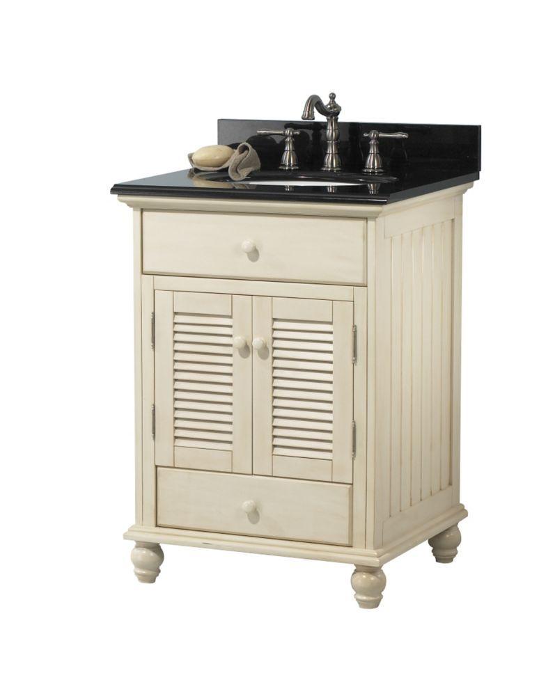 cottage 24 inch w vanity in antique white finish 24 inch vanity rh pinterest com