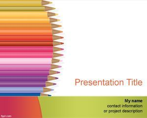 Kindergarten PowerPoint Template | HSchool | Pinterest | Ppt ...