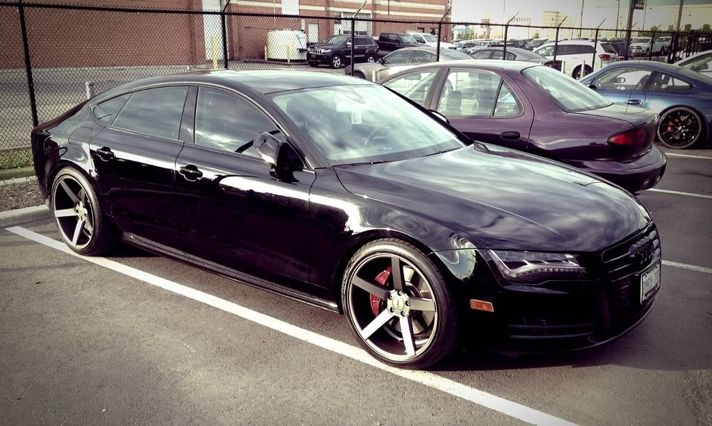 audi a7 blacked out. audi a7 dream car blacked out
