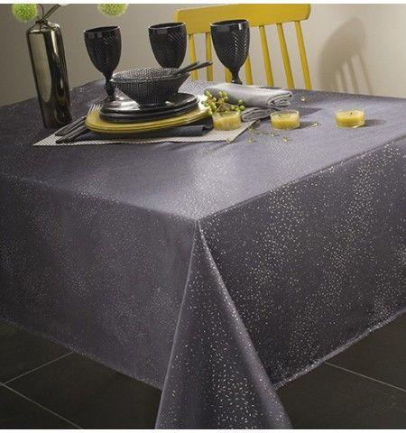 nappe polyester electra anthracite nappes de no l pinterest nappe de noel nappes et no l. Black Bedroom Furniture Sets. Home Design Ideas