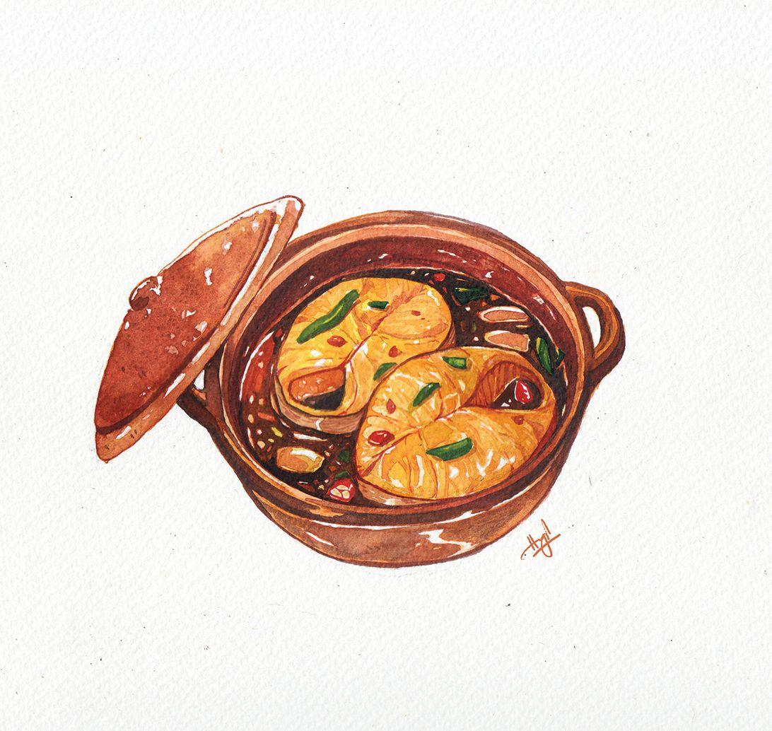 Watercolor Food Illustrationsclient: Kitchen Art
