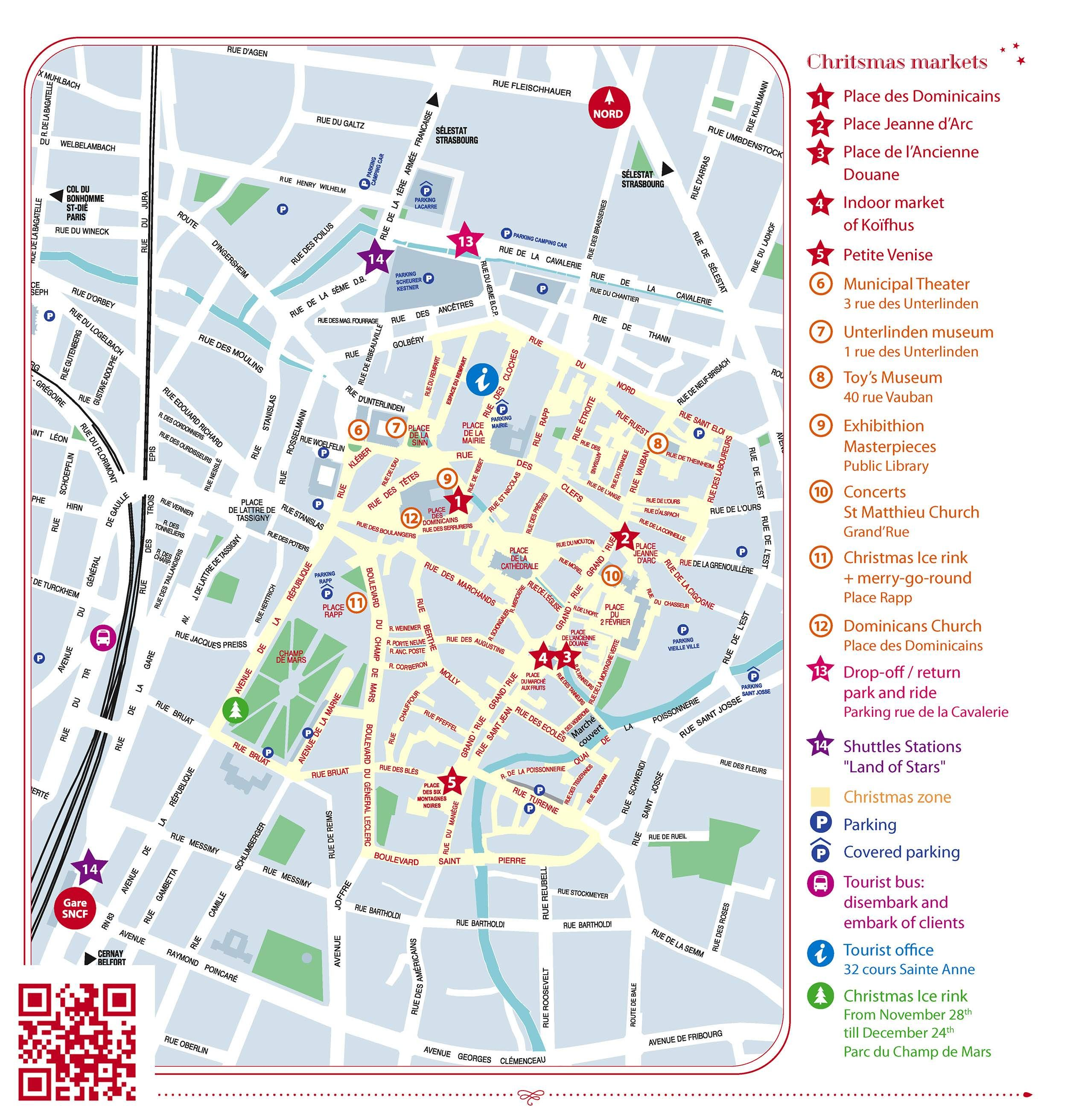 Map of the Colmar Christmas Markets in 2019 | Map, France ...