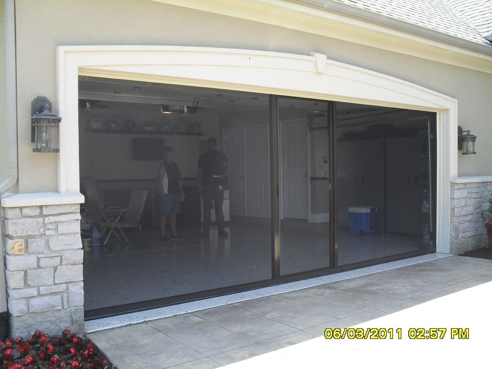 Motorized Roll Up Garage Door Screens