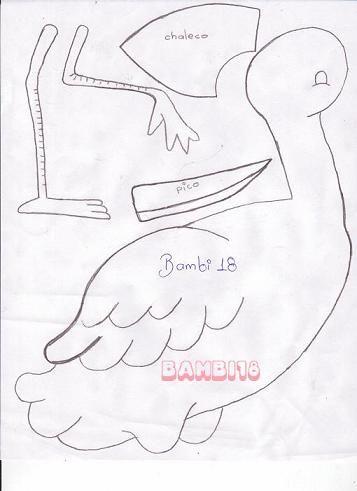 21 Dibujos de ciguenas para baby shower