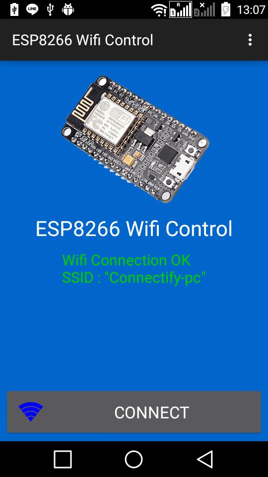 Android arduino control esp wifi relay