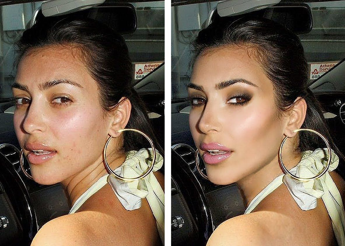 photoshop transformation: kim kardashian | kim kardashian - style
