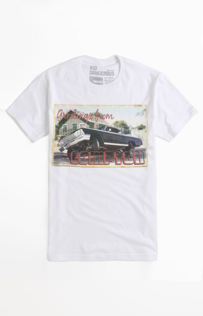 (Limited Supply) Click Image Above: Mens Kid Dangerous Tee - Kid Dangerous Greetings From Compton T-shirt