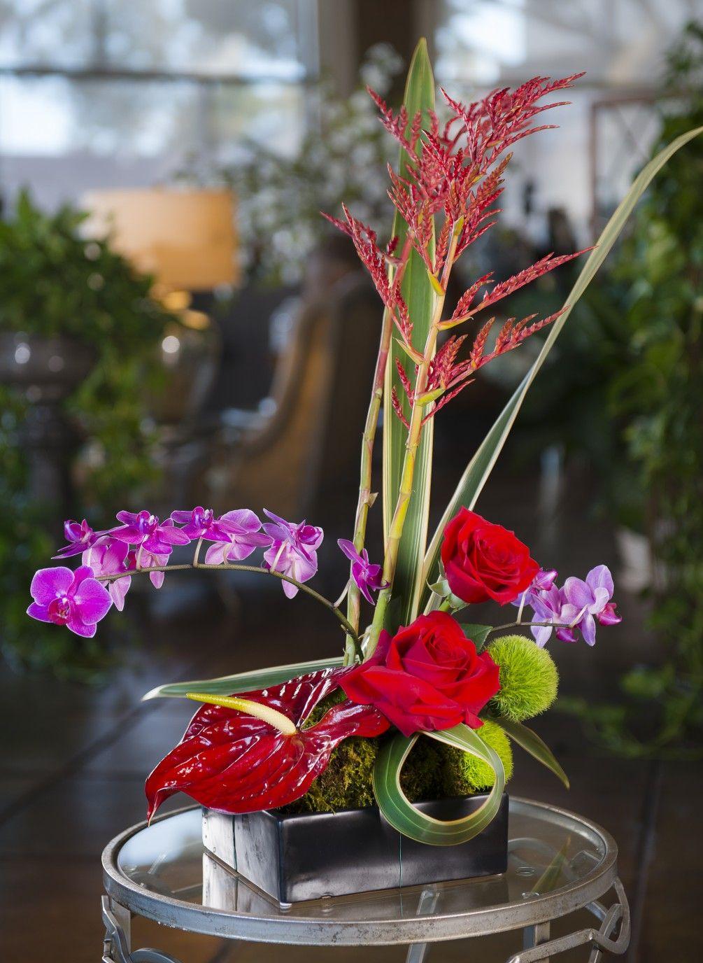 spirit of ikebana orchid rose anthurium box different style rh pinterest ca