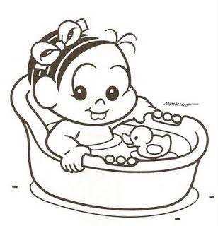 Para Colorir Desenhos Da Turma Da Monica Baby Monica Para