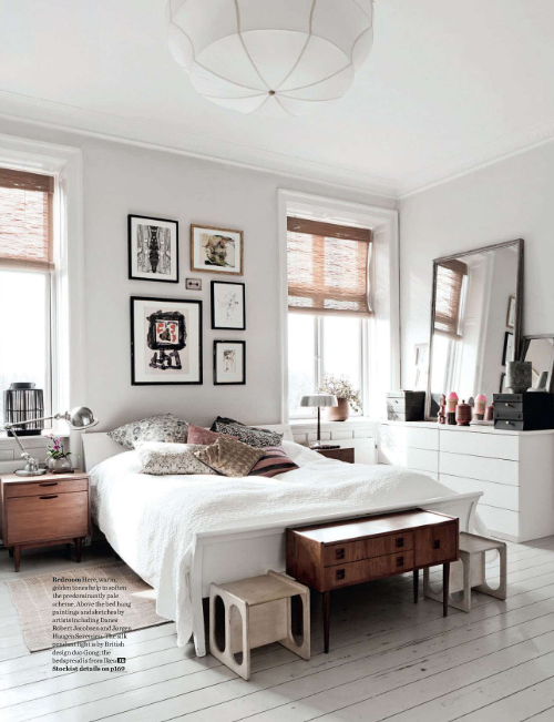 Love The Neutral Colors Of White Wood Black In This Serene Chic Bedroom Interiordesign