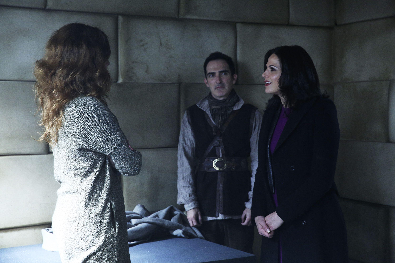 "Zelena, Regina and Author/Issac - 4 * 20 ""Mother"" - Behind the scenes"