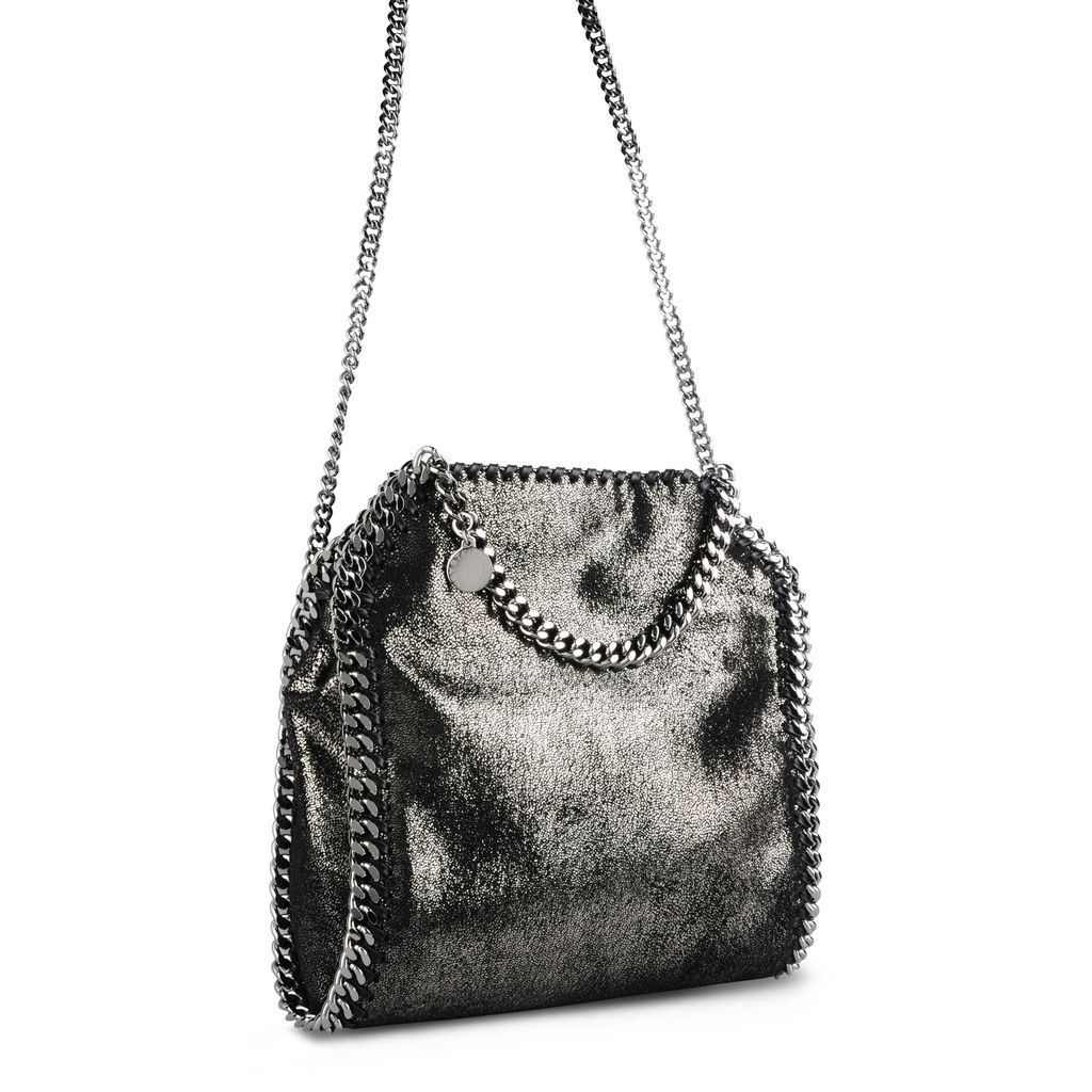 a862140d90 Ruthenium Falabella Shiny Dotted Chamois Mini Tote - STELLA MCCARTNEY
