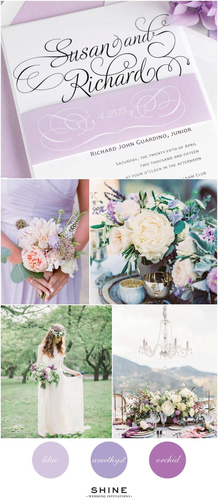purple white silver wedding invitations%0A Whimsical Purple Wedding Inspiration