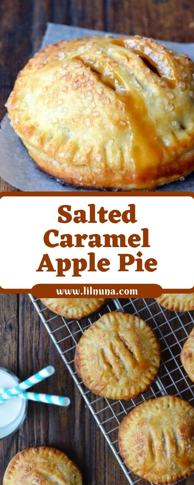 Salted Caramel Apple Pie #applepie
