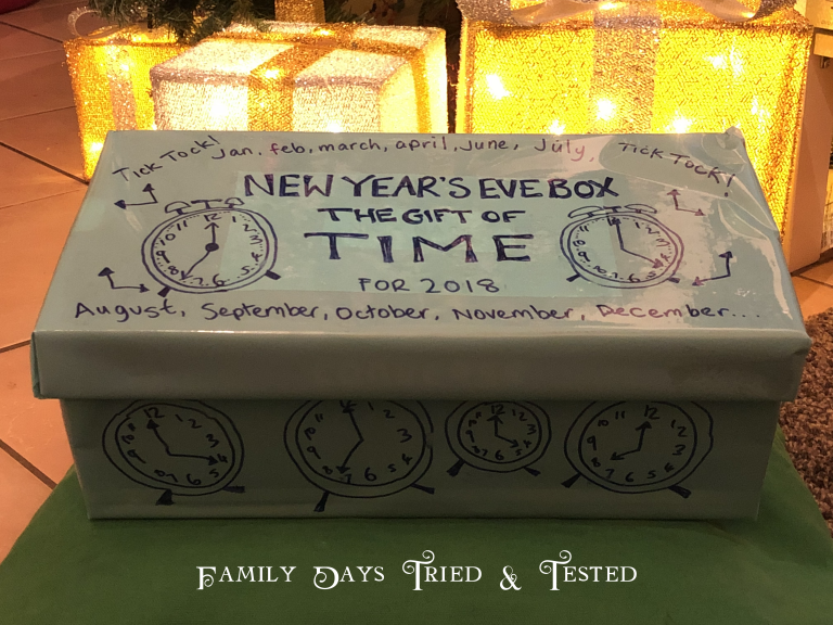 Gift Of Time New Year S Eve Box Family Days Tried And Tested Gift Of Time Family New Years Eve New Years Eve Traditions