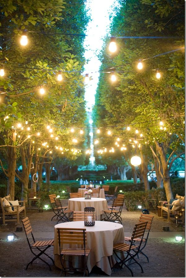 Outdoor ceremony venue dallas wedding planner outdoor reception cafe lighting by absolute entertainment mozeypictures Image collections