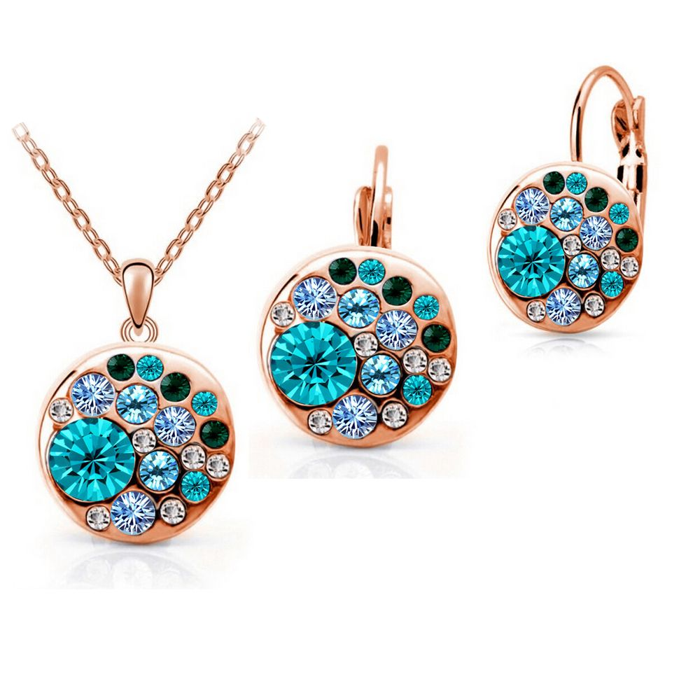 Copper multicolor round african costume austrian crystal jewelry