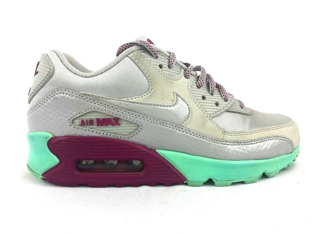 sports shoes a0171 00aaf Nike Air Max 90 Women s Running Shoes Grey Green Rasberry Size 7.5  325213-029 - Nike Airs (This is a link to Amazon and as an Amazon Associate  I earn from ...