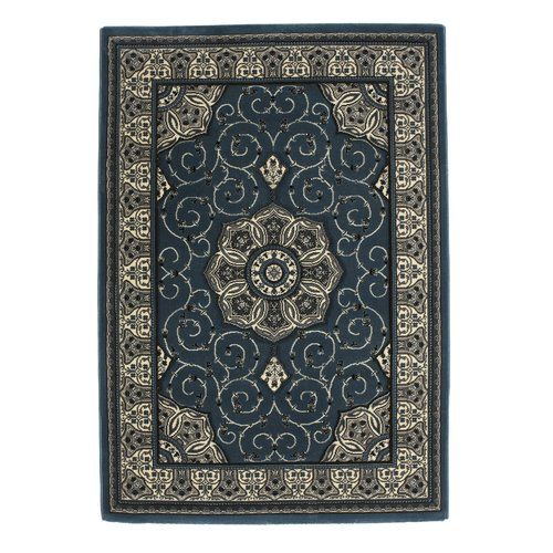 Astoria Grand Eager Dark Blue Area Rug Black Grey Rugs Rugs